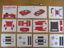 Bio_100% MUSIC CD BOX ペーパークラフトの部品を並べてみた